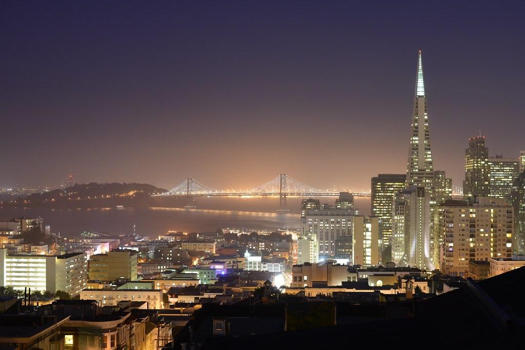 3d Background Wallpaper 4k Bay Bridge At Night San Francisco Oakland Bay Bridge