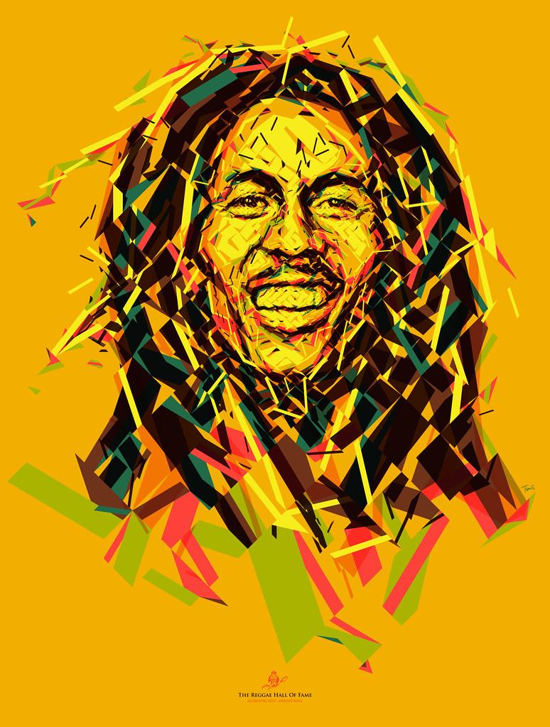 Wallpaper Rasta 3d Wake Up And Live An Optimistic Bob Marley Portrait Flickr