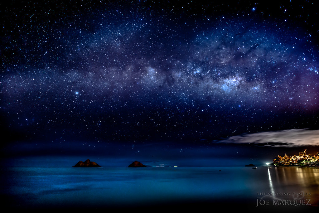 Smoking 3d Wallpaper Milky Way Over The Mokulua Islands And Lanikai Beach In Ka