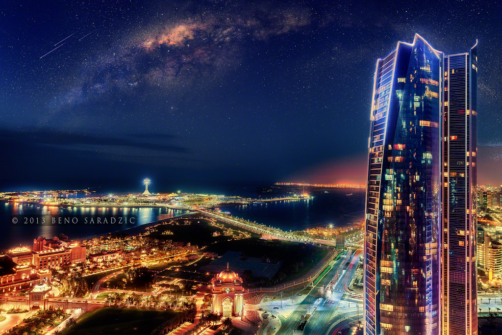 Blue Sky 3d Wallpaper Abu Dhabi Galactic What Would Abu Dhabi S Night Sky Look