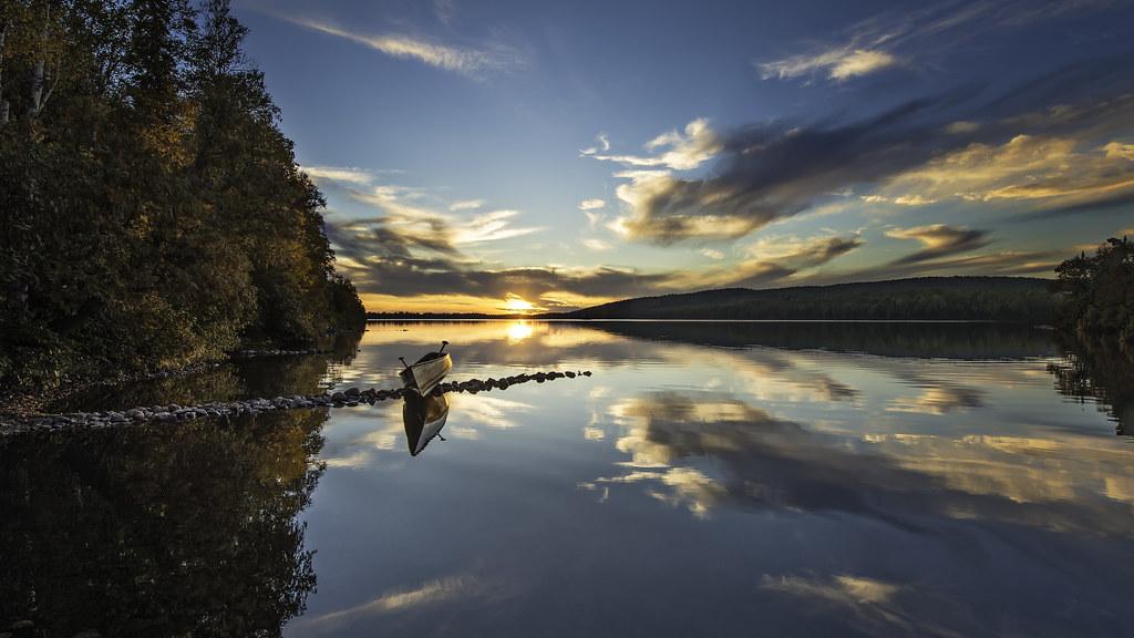 Fun Fall Desktop Wallpaper Minnesota Lake Sunset Reflection I Went Up To Northern