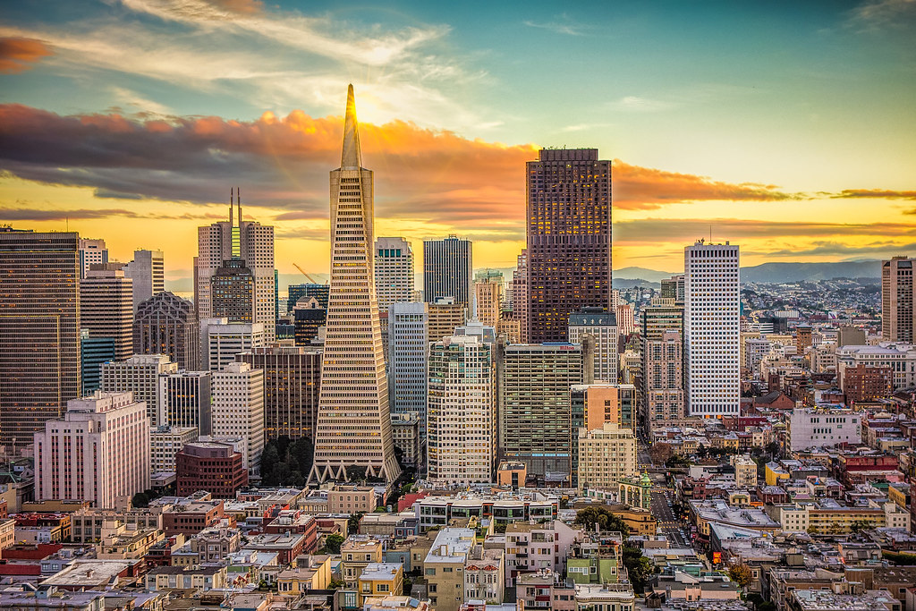 Dmt Wallpaper Hd A Glorious Sunset Financial District Of San Francisco As