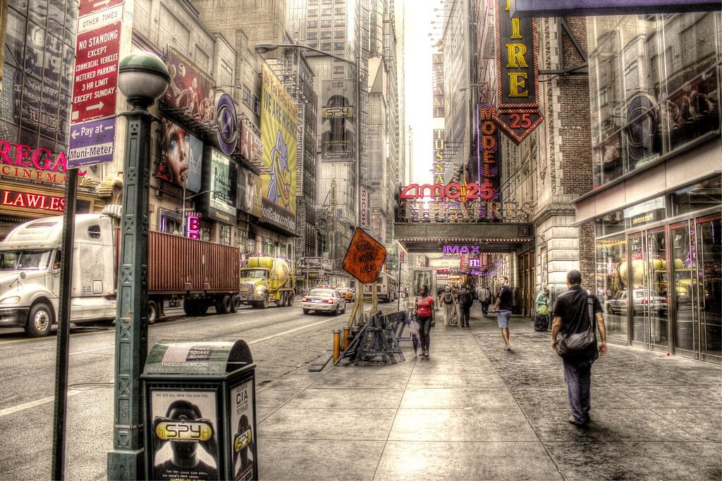 3d Wallpaper New York City St 228 Dtische Strassenszene Urban Street Scene Broadway