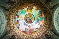 Cathedral Ceiling Painting.   Saint Vaast Arras.   By ...