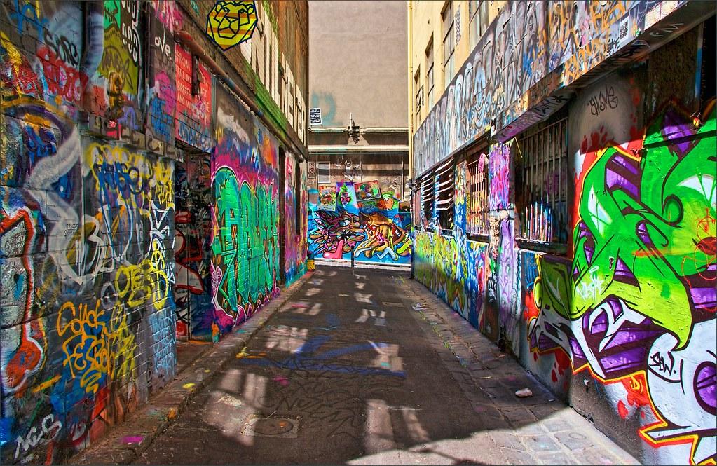 3d Changing Wallpaper Graffiti Art Rutledge Lane Melbourne Img 0205 Over