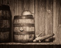 Whiskey Barrel Still Life | Two old whiskey barrels in an ...