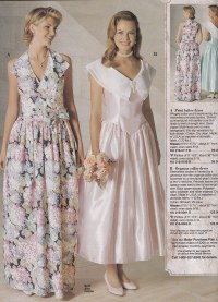 From a mid 90's JC Penney Bridal catalog | The pink dress ...