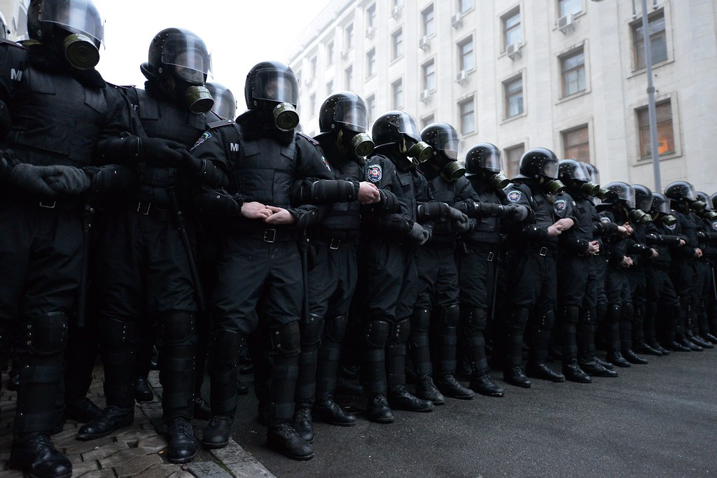 Army 3d Wallpaper Riot Police A Massive Pro Eu Rally In Kiev On 24th Of