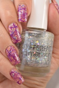 Manicure Manifesto: Purple And Orange Floral Stamped Nail Art