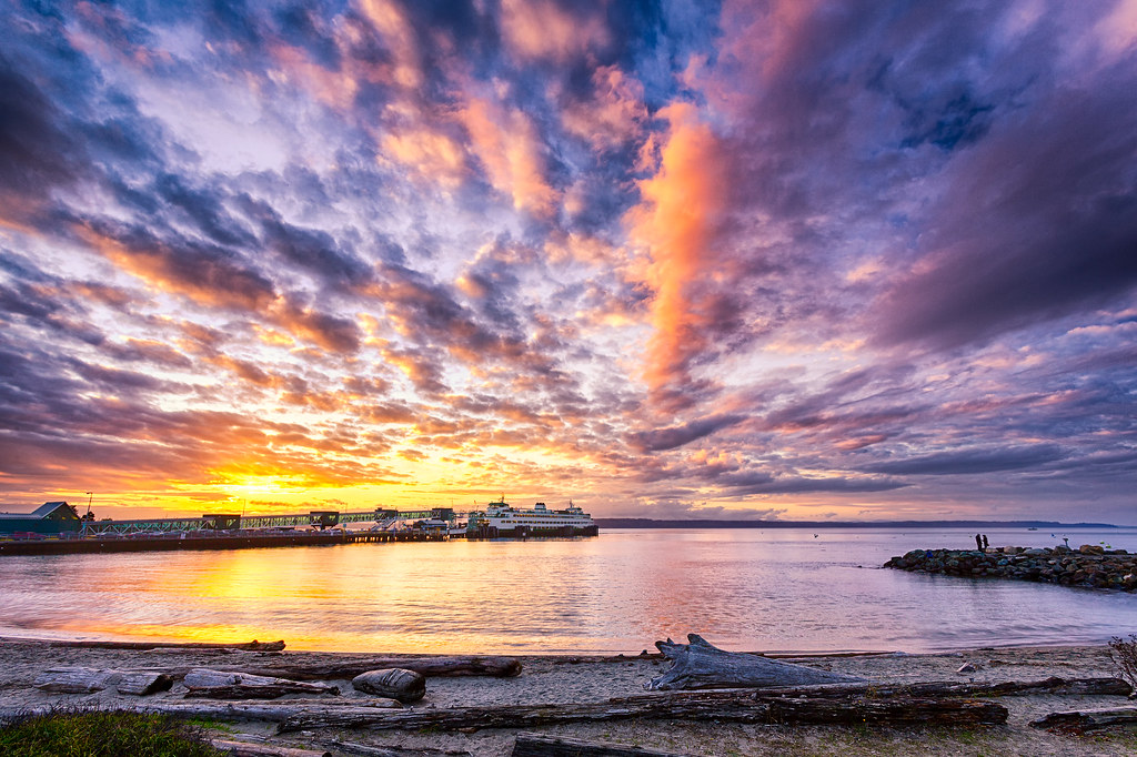 Wallpaper Sunset 3d Sunset At The Beach In Edmonds Landscape Photography By Mi