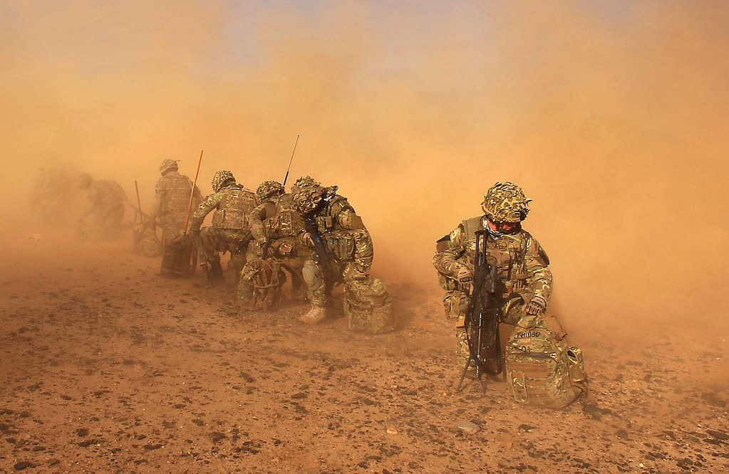 3d Colour Wallpaper Free Download Royal Marines With 40 Cdo Engulfed In Dust In Afghanistan
