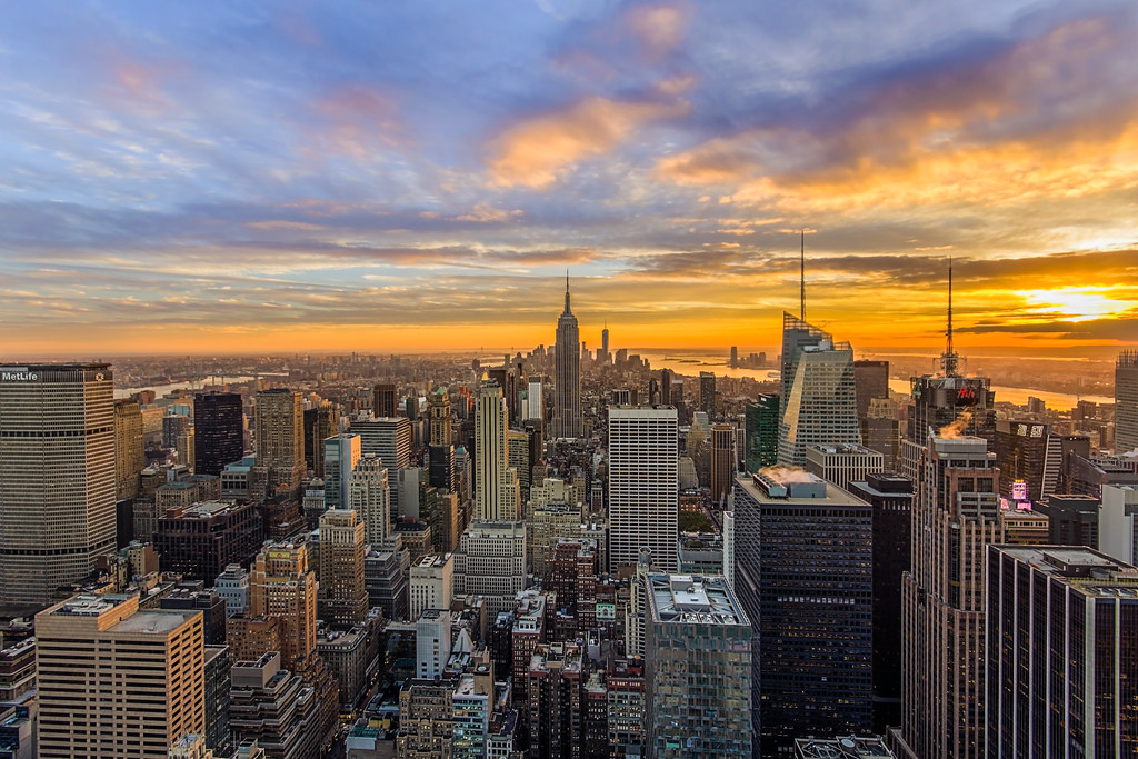 New 3d Wallpaper Download Nyc Sunset Another From My Night At Rockefeller Center
