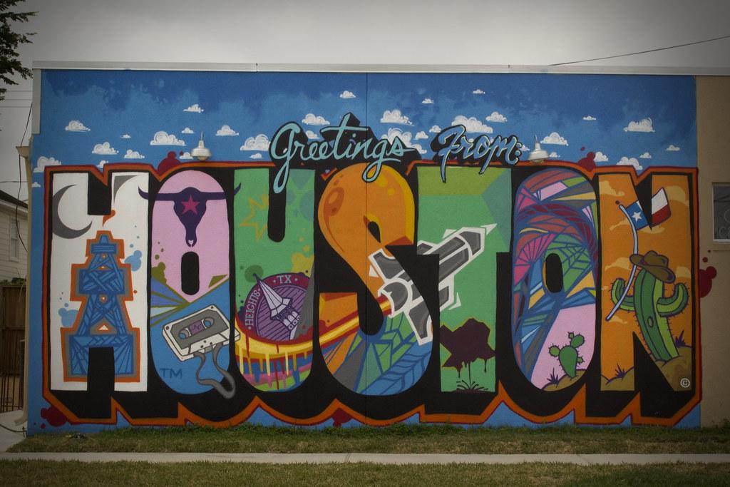 Graffiti 3d Wallpaper Hd Greetings From Houston Mural By Daniel Anguilu Flickr