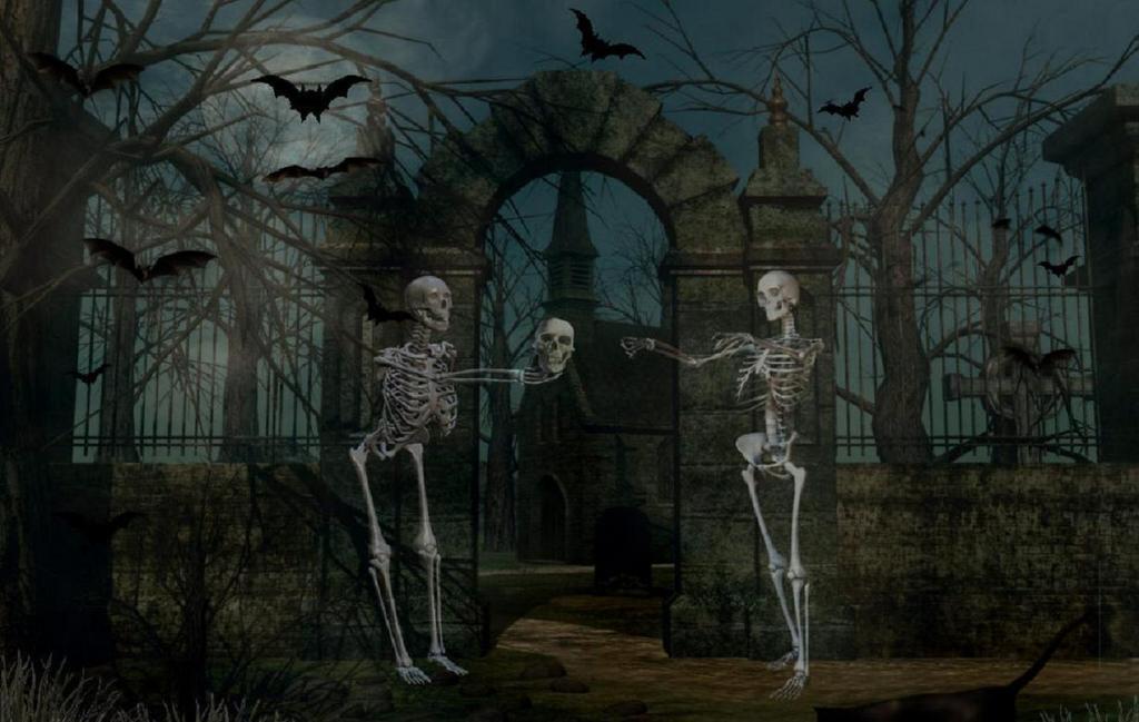 Wampire Moon Wallpaper Desktop 3d Background Of Halloween 1 Kim St 248 Vring Flickr