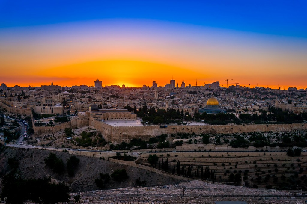 Crown Hd Wallpaper Sunset View Of Jerusalem From Mt Of Olives Israel Sunset