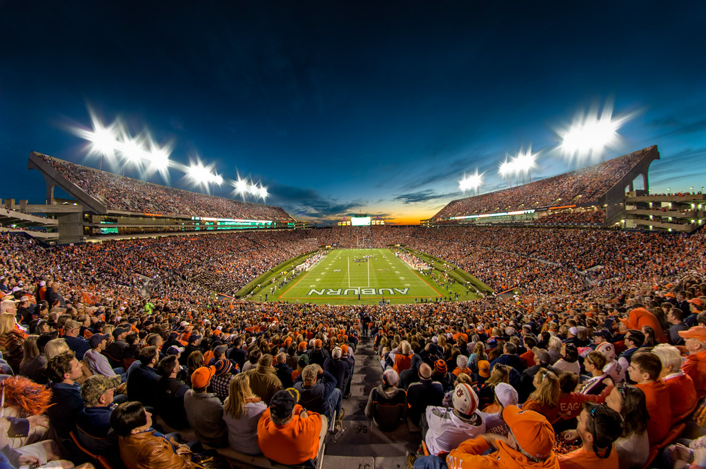 3d Football Stadium Wallpaper Jordan Hare Stadium On Explore 11 17 14 Auburn Alabama