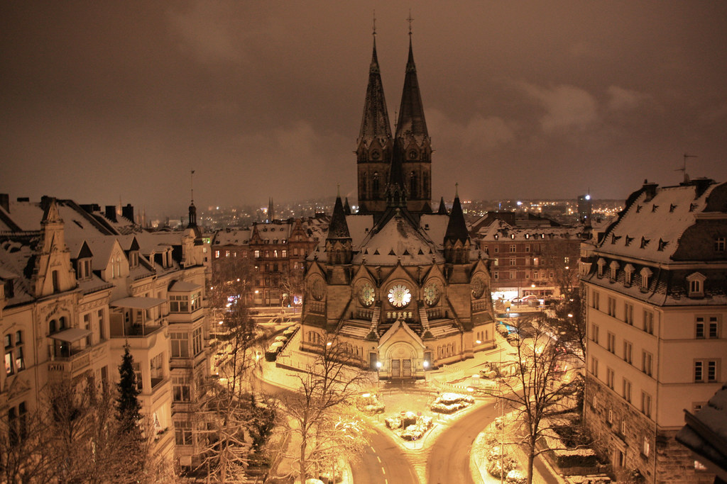 Free Landscape Wallpaper Hd Winter City Cc Wiesbaden Germany Creative Commons By