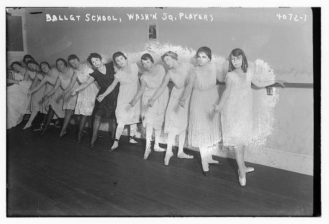 Ballet school, Wash. Sq. [i.e., Washington Square] players (LOC)