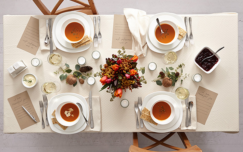 Fall Succulent Wallpaper Millennial Minimalist Table Setting For Thanskgiving With