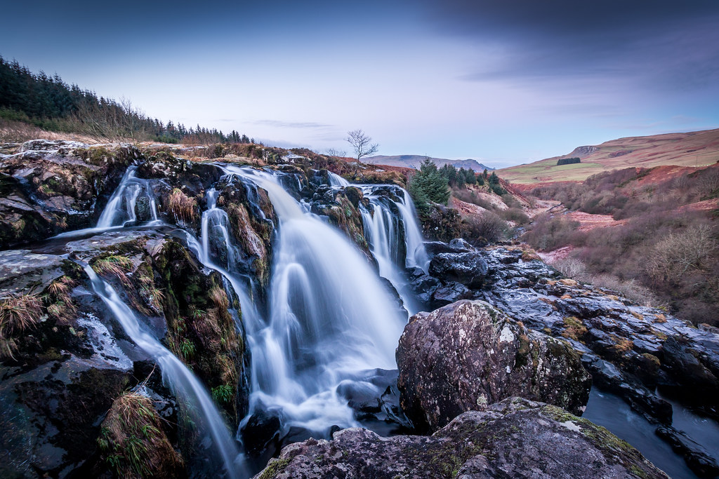 Blue Fall Wallpaper The Loup Of Fintry Waterfall The Loup Of Fintry