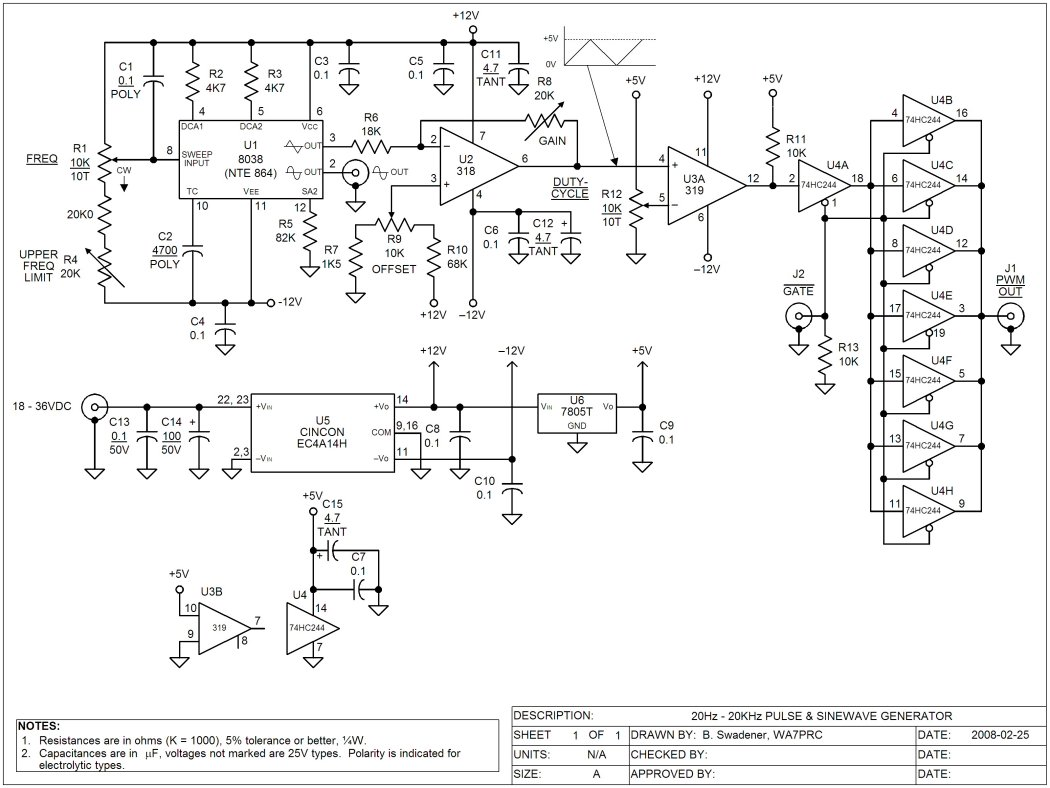 sine wave oscillator circuit layout