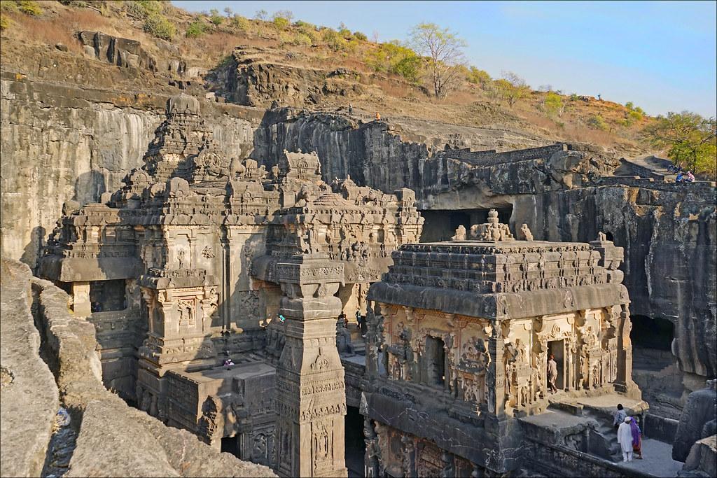 As Royal Decor 3d Wallpaper Le Temple De Kailasha Ellora Inde Vue D Ensemble Du