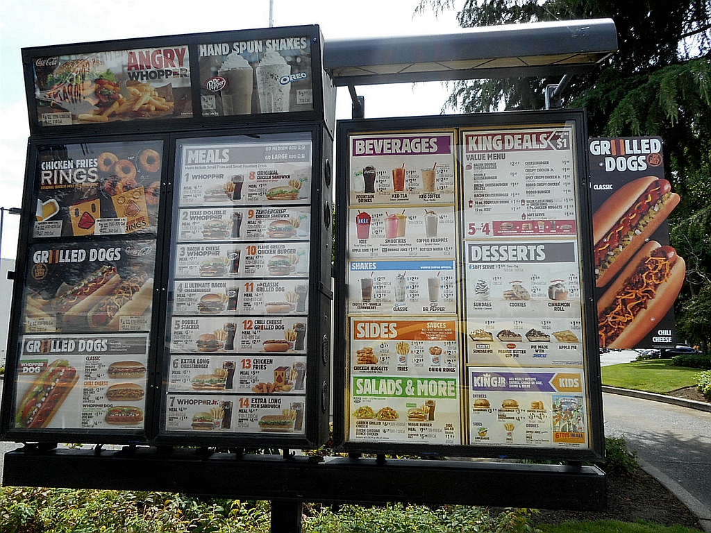 El Camino Motion M 3295-6 Burger King Drive Thru Menu