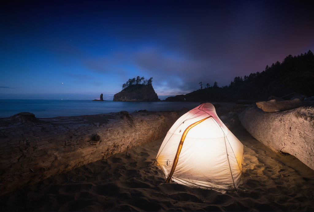 Free Fall Desktop Wallpaper Camping At Second Beach Olympic National Park Washington
