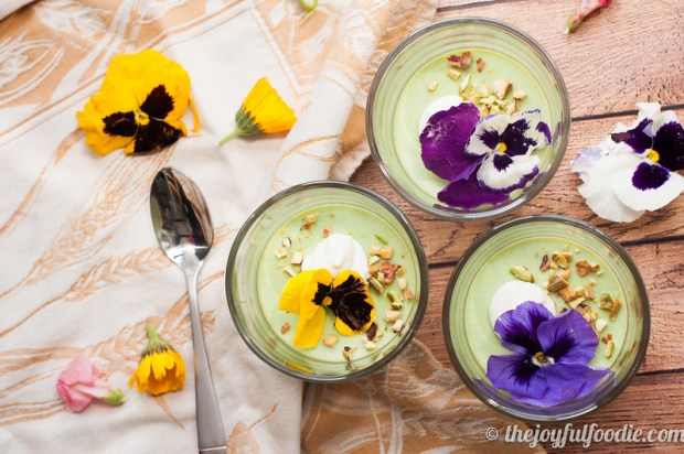 Fresh peas and lemon make this panna cotta a smooth, savory bite of Spring in every spoonful. | The Joyful Foodie