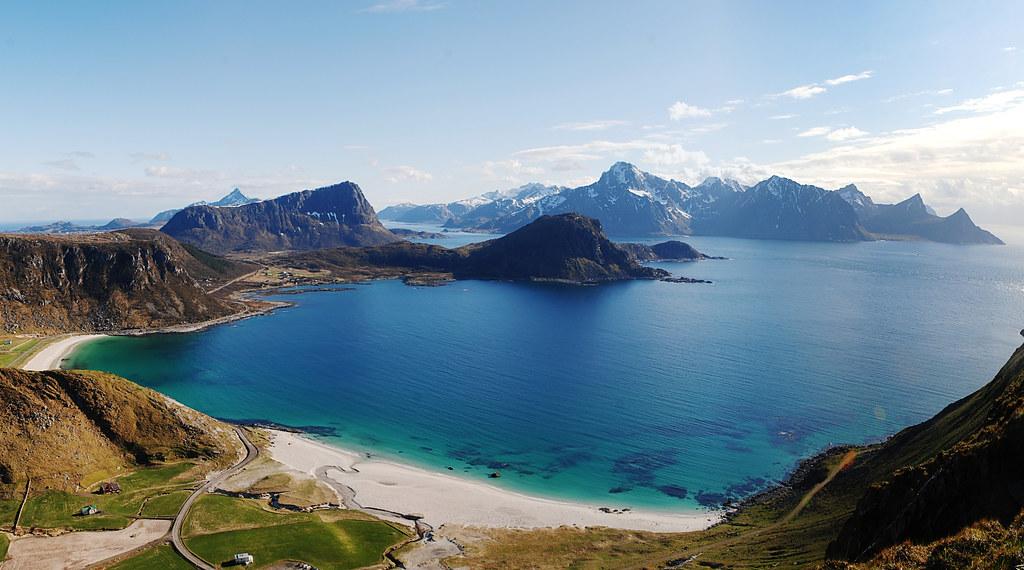 Amazing Wallpapers 3d Haukland Beach View Lofoten Islands 3 Vertical Shots