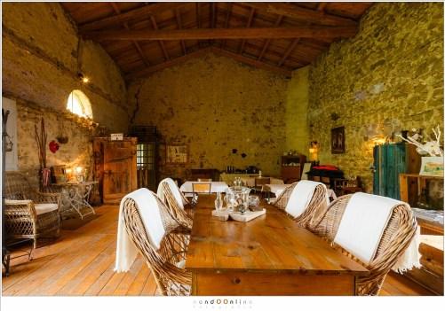 De kasteelboerderij van La Fougeraie.