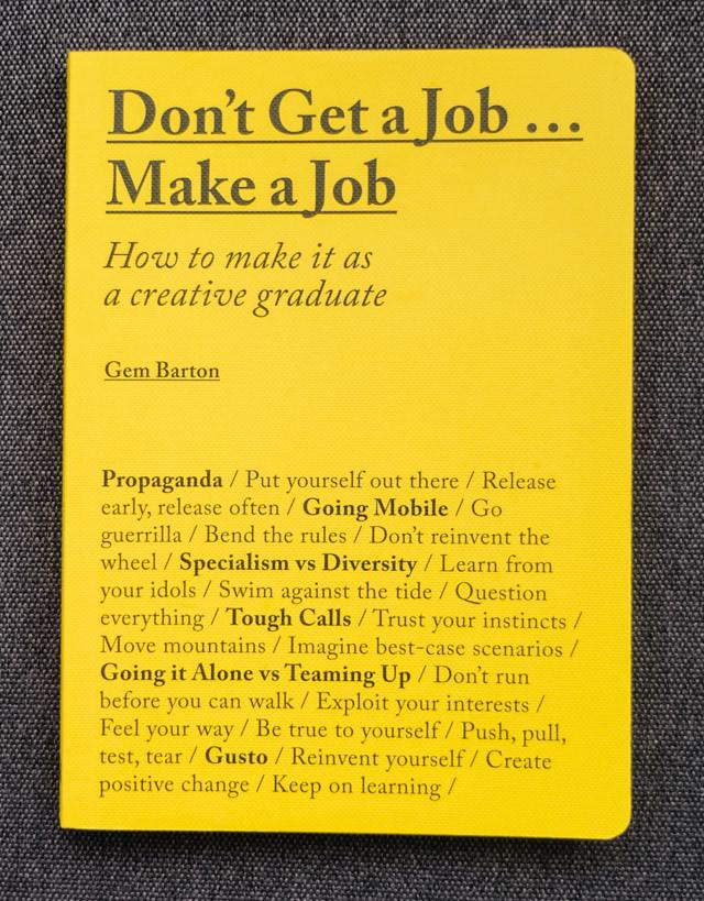 don\u0027t get a job make a job book review » cardboardcities