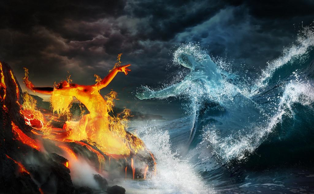 Free 3d Skull Wallpaper Love Fire And Water Dago Fernandez Flickr