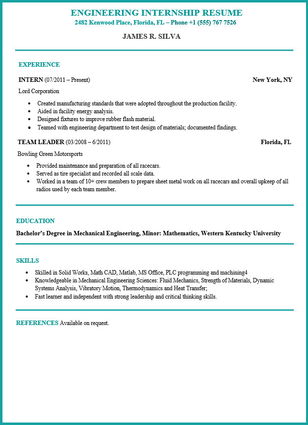 Engineering Resume Example and Guide Resume101org