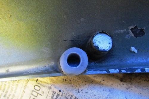 Bottom Side Panel Brass Insert Final Hole Size