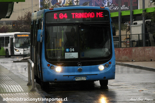 Transantiago E04   Unitran   Metalpar Tronador - Mercedes Benz / WH2073