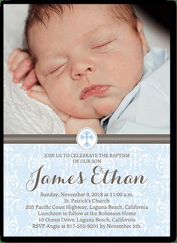 Boy Baptism Invitations Shutterfly
