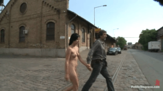 Euro Babe Gets Fucked, Then Made To Walk Across Bridge