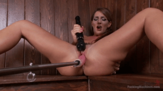 Busty Whore Loves Her Intense Machine Squirts