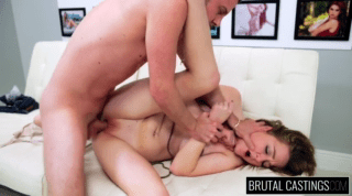 Young Amateur Blonde Struggles To Suck Cock