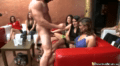 Masked Stripper And Dozens Of Hot Chicks