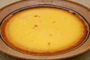 Custard with crystallized ginger