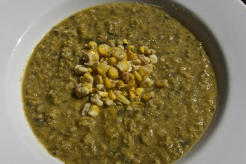 Homemade corn soup is the perfect comfort food.