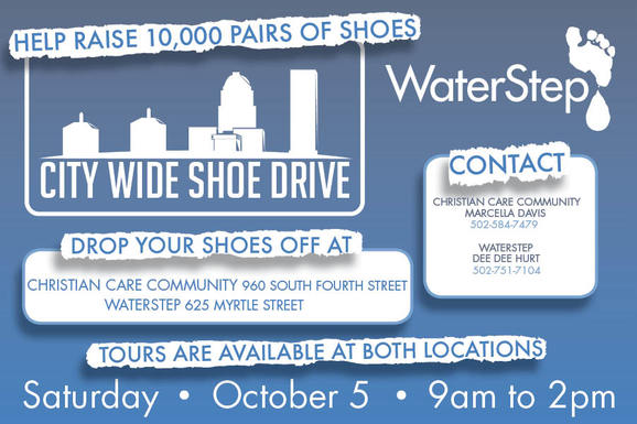 Shoe Drive Flyer towelbars