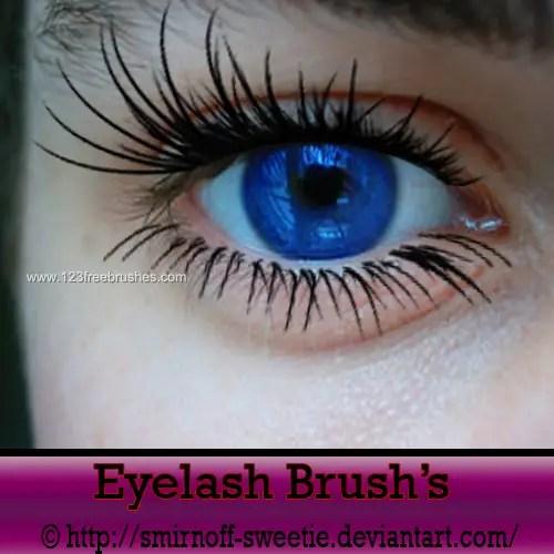 Eyelash Adobe Photoshop Brushes Free 123Freebrushes