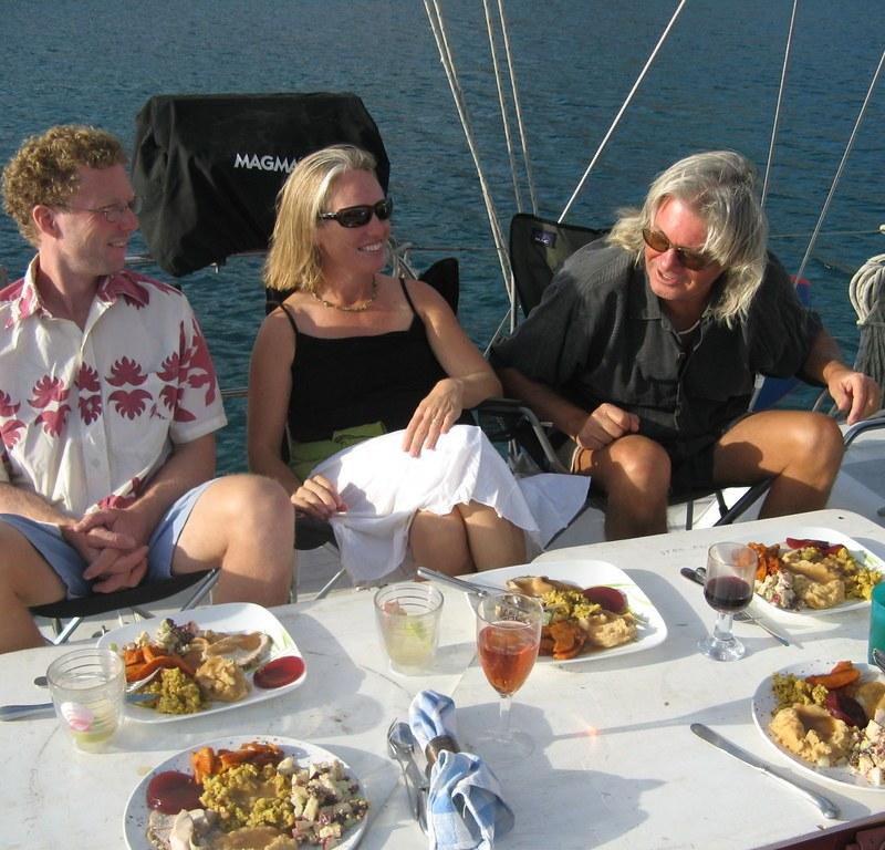 Thanksgiving dinner on Capaz - PJ Baker photo