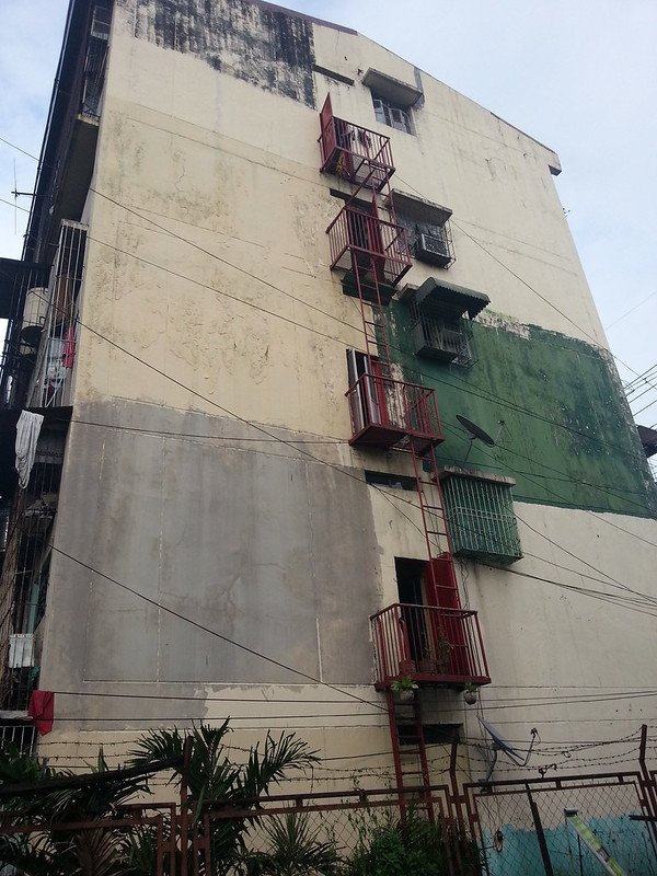 green patches on building