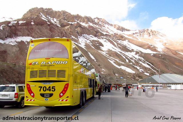 El Rápido Internacional | Paso Los Libertadores | Metalsur Starbus 2 - Scania / OXG574 - N° 7045
