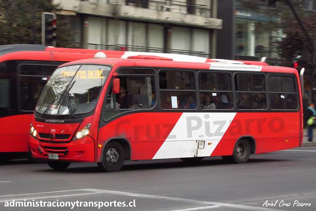 Transantiago C01 | Redbus | Neobus Thunder - Mercedes Benz / CJRR84