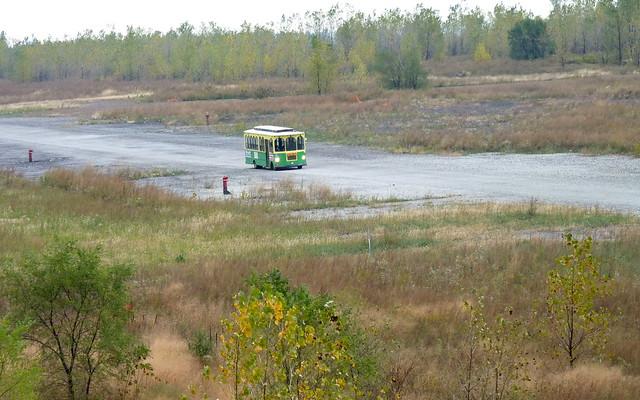 Trolley on the future Lake Shore Drive